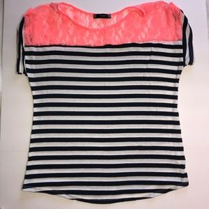 XL Maternity Coral lace top